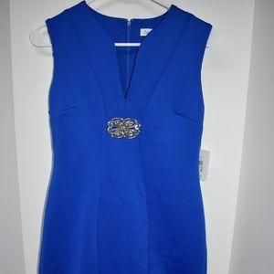 Calvin Klein Embellished Scuba Sheath Dress New 4